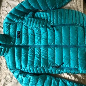 Patagonia Blue Downjacket Women's Small